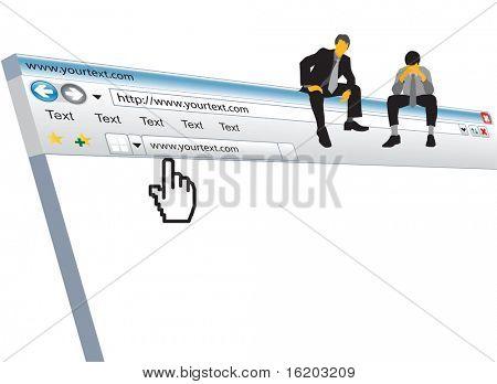 Illustration of internet window