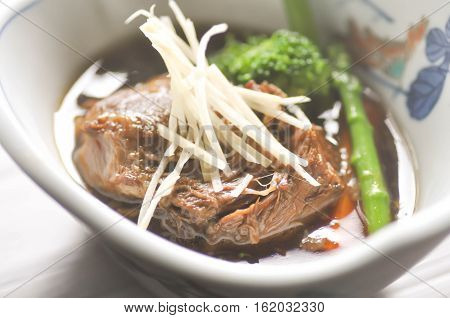 stewed beef with vegetable dish, stewed beef