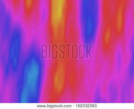 Abstract psychedelic colorful illustration. Visual heat map. Flowing acid haze. Ethereal scientific background. Element of design.