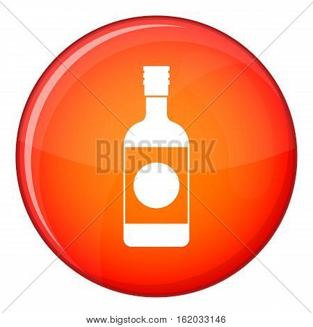 Japanese sake icon in red circle isolated on white background vector illustration