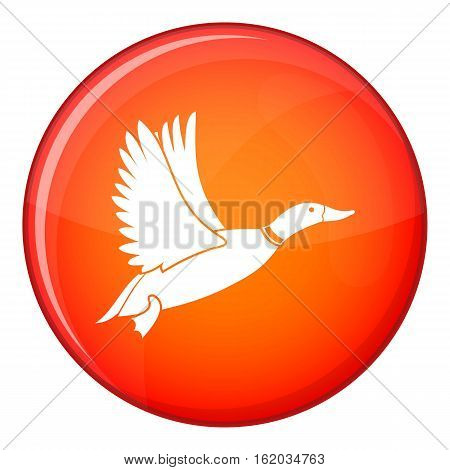 Duck icon in red circle isolated on white background vector illustration