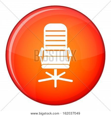 Office chair icon in red circle isolated on white background vector illustration