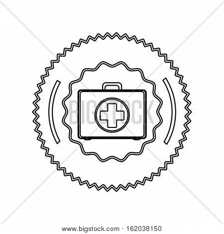 Medical kit icon. Medical health care hospital and emergency theme. Isolated design. Vector illustration