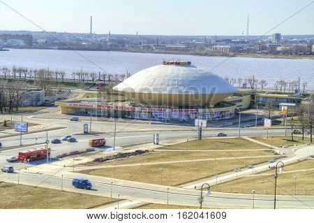 KAZAN RUSSIA - April 18.2010: Modern building of municipal circus