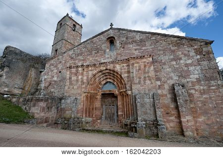 San Millan de Lara Church Burgos Province Spain. It was building on 1165 in Romanesque style.