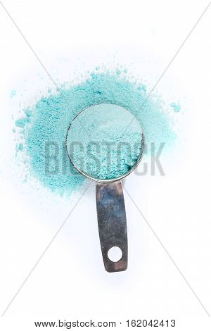 Scoop Of Laundry Detergent Isolated On White Background