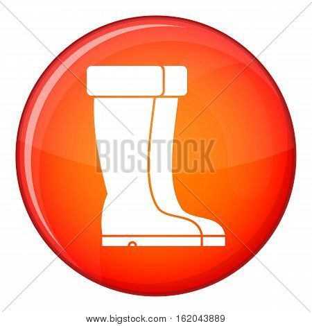 Winter shoes icon in red circle isolated on white background vector illustration