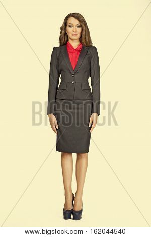 Business Woman In Power Suit