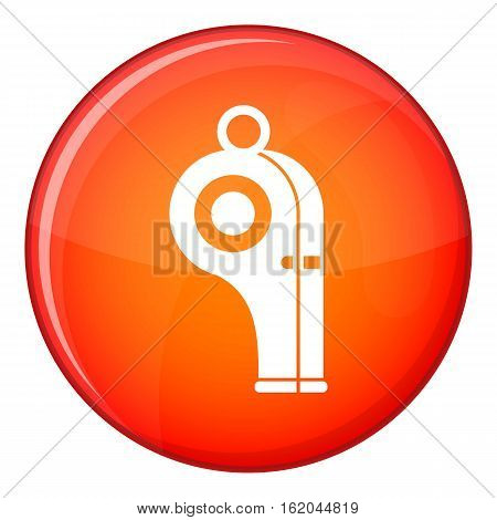 Sport whistle icon in red circle isolated on white background vector illustration