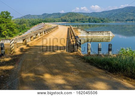 Reserved Water At Mae On Irrigation Dam