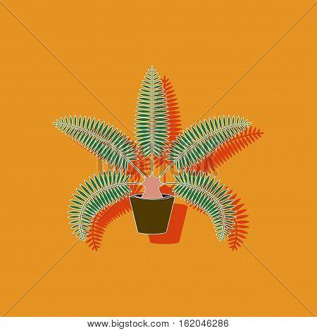 paper sticker on stylish background of phoenix