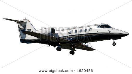 Lear Jet Posterized