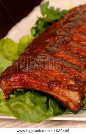 Slab Of Baby Back Barbeque Ribs