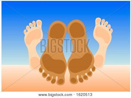 Feet Of Couple Making Love