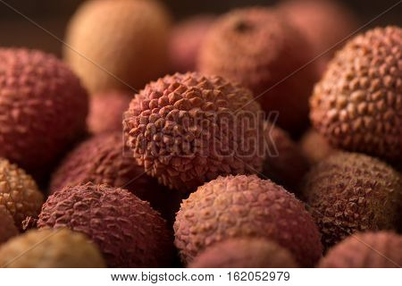 Lychee close up of Fresh lychee fruit