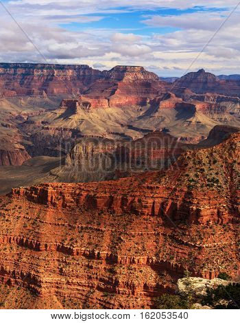 Awesome View Of Rock Formation On The South Rim Of The Grand Canyon National Park, Arizona, United S