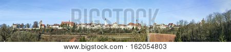 Panoramic View Of The Medieval Town Of Rothenburg Ob Der Tauber.bavaria