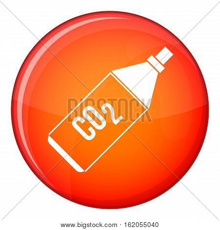 CO2 bottle icon in red circle isolated on white background vector illustration