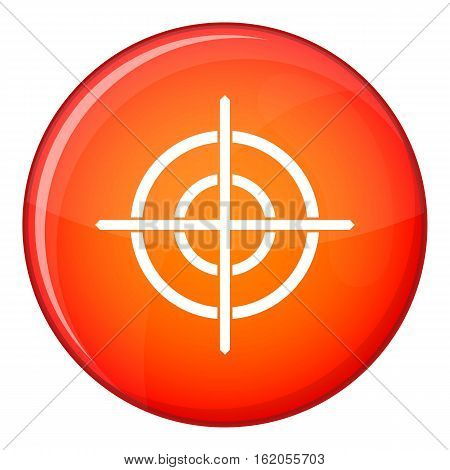 Target crosshair icon in red circle isolated on white background vector illustration