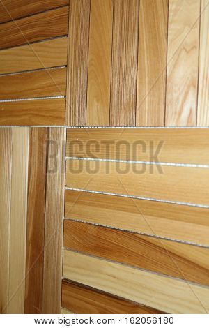 Wooden texture with growth rings, glued timber or cut