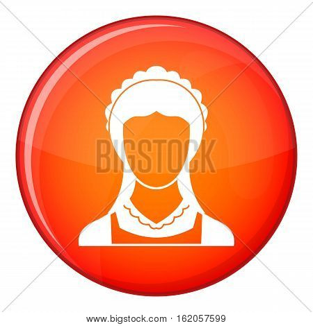 Cleaning household service maid icon in red circle isolated on white background vector illustration