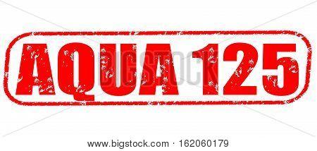 Aqua 125 on the white background, red illustration