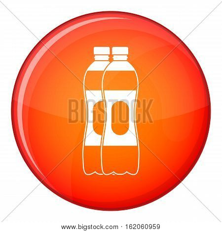 Athletic man torso icon in red circle isolated on white background vector illustration