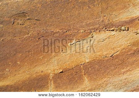 Detail Of Stone Texture With Crack Background. Background Texture Of Natural Stone In High Quality.