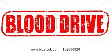 Blood drive on the white background, red illustration