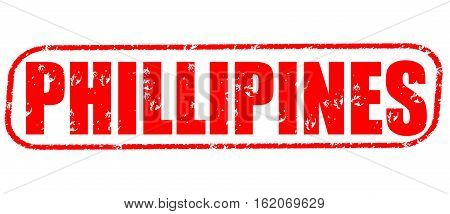 Phillipines on the white background, red illustration