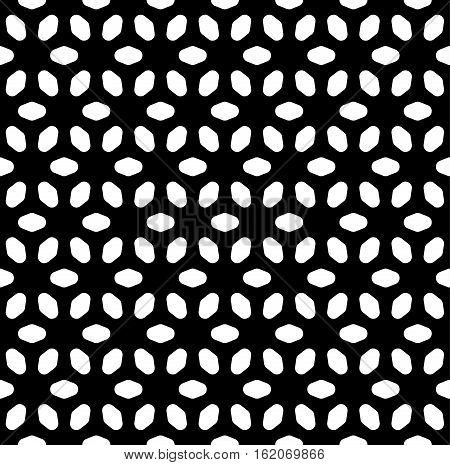Vector monochrome seamless pattern, simple minimalist background, abstract geometric floral ornament texture. Design element for prints, decoration, cover, package, wrapping, textile, fabric, digital