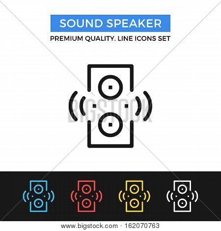 Vector sound speaker icon. Premium quality graphic design. Modern signs, outline symbols collection, simple thin line icons set for websites, web design, mobile app, infographics