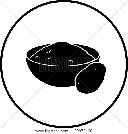 smashed potatoes bowl symbol