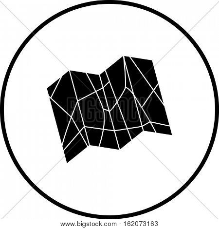 folding map symbol