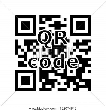 QR code encryption, encoding information ready to be read by a smartphone, vector QR code