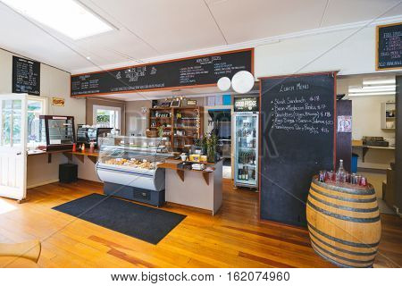 auckland,new zealand:interior of cafe in New Zealand on Feb,4,2016