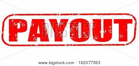 Payout on the white background, red illustration