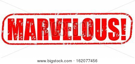Marvelous on the white background, red illustration