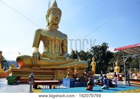 Buddha Statue Buddhist Temple On Phra Tmanak Hil