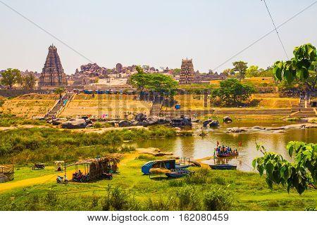 View of Hampi, Unesco heritage site, India