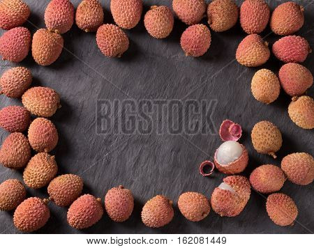 Fresh Lychee And Peeled One