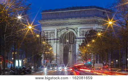 The Triumphal Arch is one of the most visited monuments in Paris. It honors those who died and fought for France.