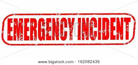 Emergency incident on the white background, red illustration