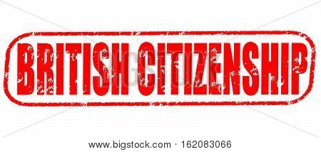 British citizenship on the white background, red illustration