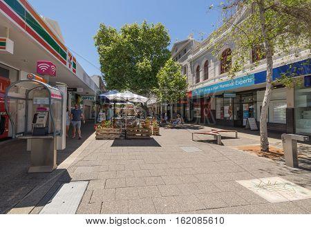 PERTH AUSTRALIA - November 5 2016 : Fremantle city building street scene Fremantle Western Australia.