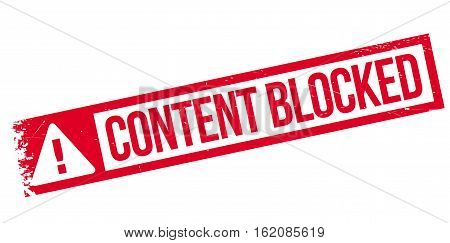 Content blocked rubber stamp. Grunge design with dust scratches. Effects can be easily removed for a clean, crisp look. Color is easily changed.