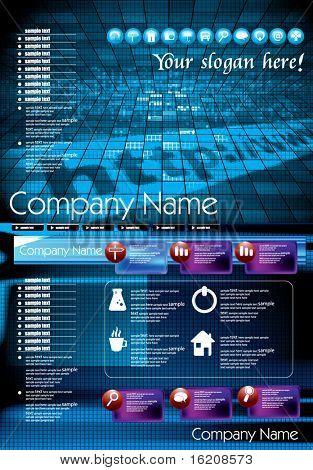 Futuristic Technology Website
