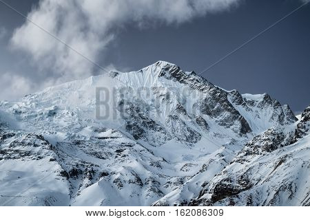 High mountains in Himalaya. Beautiful natural landscape