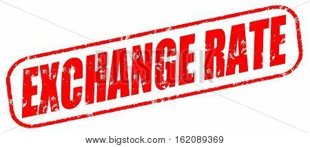 Exchange rate on the white background, red illustration