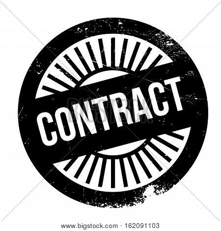 Contract stamp. Grunge design with dust scratches. Effects can be easily removed for a clean, crisp look. Color is easily changed. rubber grunge